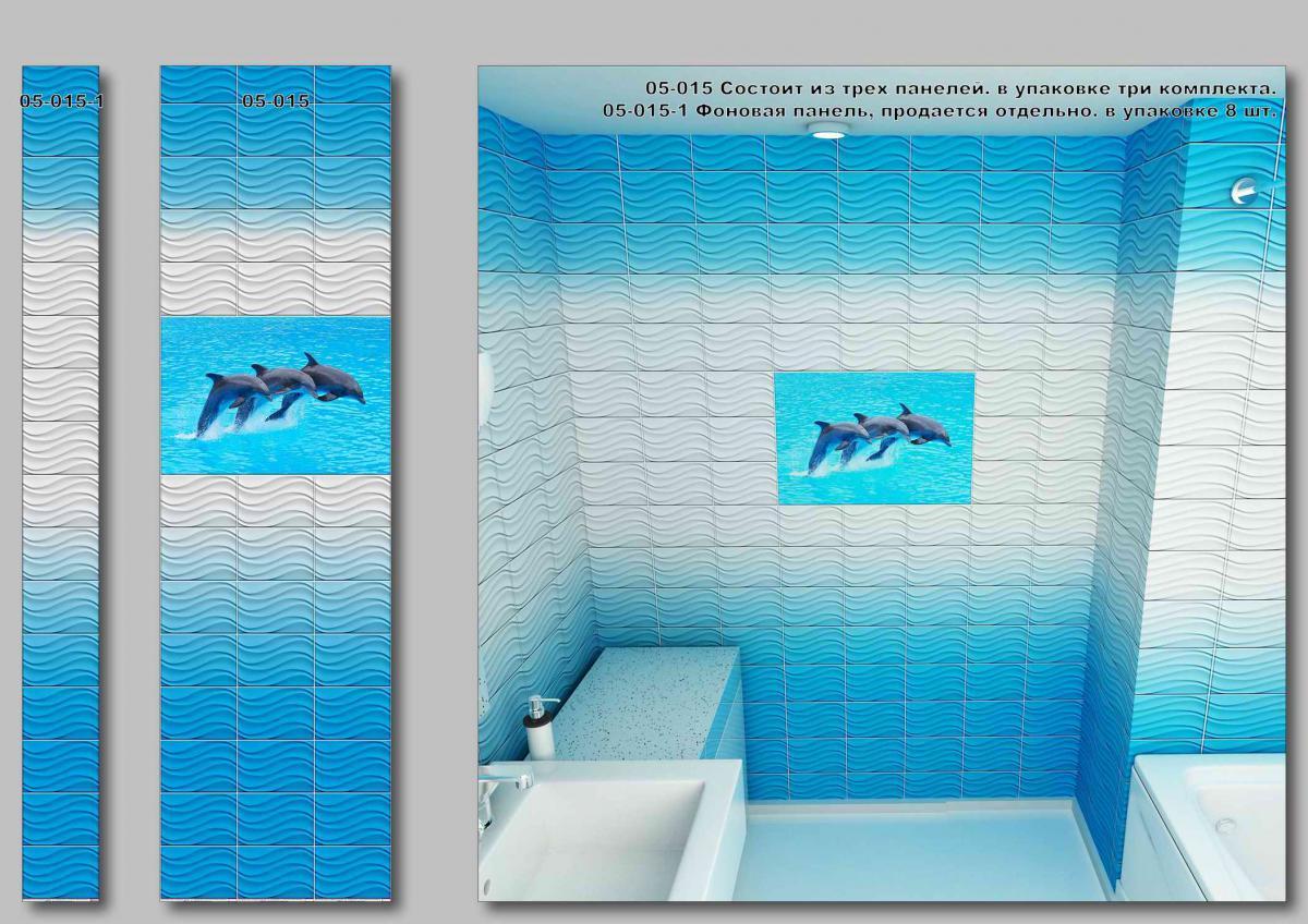 Панели под плитку Дельфины